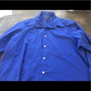 Arrow men's blue button down dress shirt 16 1/2